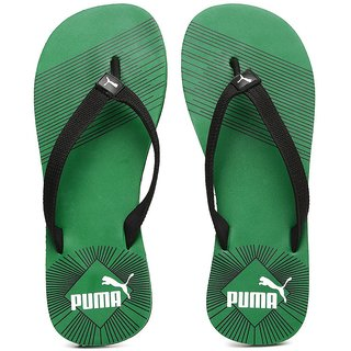 6f091e8c9cd7 Buy Puma Step In-Stripe Green Flip Flops Online - Get 50% Off
