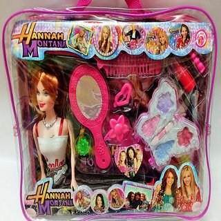 buy barbie doll gift set with makeup kit for beautiful