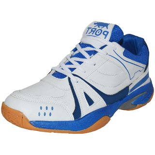 Port Unisex Activa White Badminton Sports Shoes
