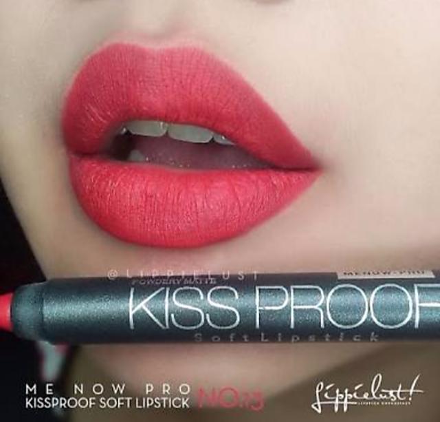 Buy MENOW KISS PROOF CRAYON LIPSTICK SHADE 13 WATER PROOF Online - Get 63% Off