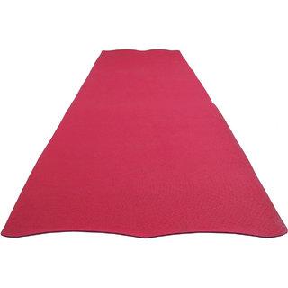 Aarushi Antiskid Red colour Yoga mat 4 MM 179 CM