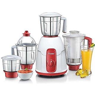 Prestige ELEGANT 750 W Juicer Mixer Grinder  (Red, 4 Jars)