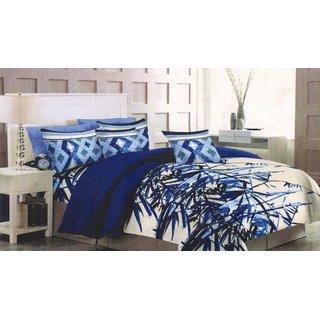 Welhouse Cotton King Size Bedsheet  2 Pillow CoversEPA-17