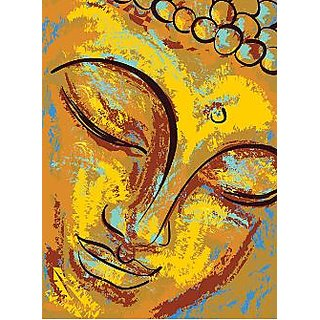 Portrait of Buddha - Illustr, Religion, Spirituality 12x18 inches Wallpaper
