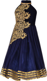 Meia for girls Girl's Designer Party Wear Gown With Halter Neck