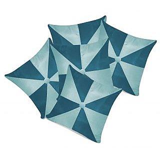 Zikrak Exim Gig Design Cushion With Button Blue  Sky Blue (5 Pcs Set)