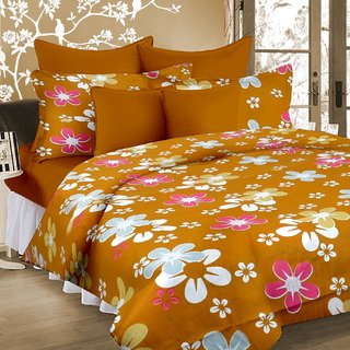 Welhouse India 100  Cotton Double Bed Sheet with 2 Pillow Cover - TC-140 MTR-012