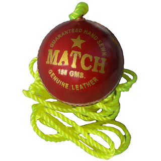 Port's Match Red Leather Cricket Practice Ball