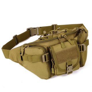 Aeoss Outdoor Unisex Waist Bag Tactical Military Waist Pack Chest Bag Pouch Waist Pack With Water Bottle Pocket Holder M