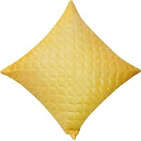 Zikrak Exim Square Quilting Cushion Cover Yellow (1 Pc)