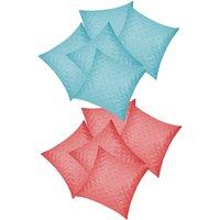 Zikrak Exim Square Quilting Combo Sky Blue & Pink (10 Pcs Set)