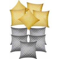 Zikrak Exim Square Quilting Combo Yellow & Grey (10 Pcs Set)