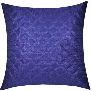 Zikrak Exim Square Quilting Cushion Cover Blue (1 Pc)