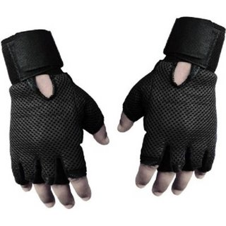 Tahiro Black Leather GYM Weigth Lifting GLoves - Pack Of 1