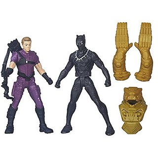 Hasbro Captain America Civil War Marvels Hawkeye Vs Black Panther, Multi Color