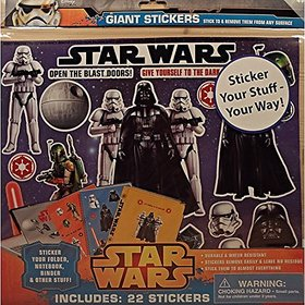 Star Wars Back To School Giant Removable Binder Sticker
