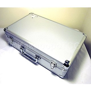 A2 Silver Metal Storage Carry Case Kakapopo Tcg For Trading Cards Tcg Ultra Pro Deck Box Cube Protector Sleeve Toploader Mtg Cube Magic The Gathering Ygo Yugioh Board Games Wow Pokemon Dice Counter Rpg