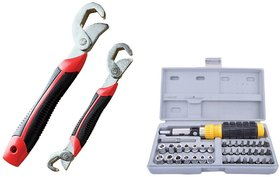 Skycandle Tool Kit (Set Of 41 Pcs) With Double Sided Snap N Grip Wrench Set