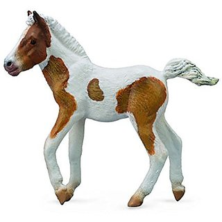 Collect A Horse Life Dartmoor Skewbald Hill Foal Toy Figure