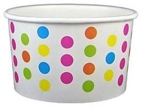 Rainbow Polka Dot Ice Cream Cups 4 Oz - 50 Count
