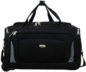 Timus Morocco 55 Cm Black 2 Wheel Duffle Trolley Bag For Travel  Cabin  Small Luggage
