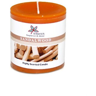 Limerick Home Highly Scented Pillar Candle SANDALWOOD-3X3
