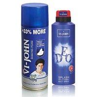 VI-JOHN Shave Foam 400GM For All Type Of Skin & VIJOHN Deo Splash