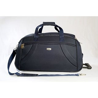 Timus Samprass 65 Cm Blue 2 Wheel Duffle Trolley Bag For Travel (Check In -Medium Luggage)�