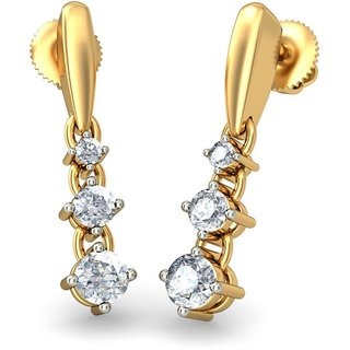 The Ignatius Earrings_Diamond Earring In 18KT Yellow Gold