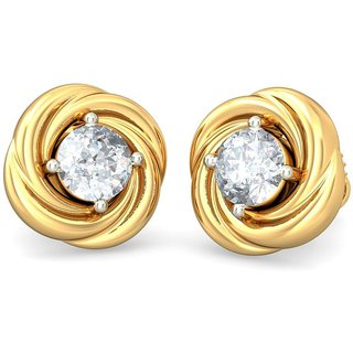 The Ruon Earrings_Diamond Earring In 18k Yellow Gold