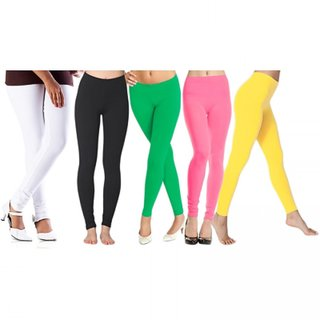 LEGGINGS PACK OF 5 COMBO STRETCHABLE 2 V4RY LOWE5T PRICE