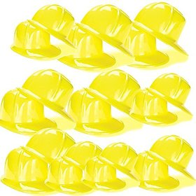 US Toy Construction Party Hard Hat (pack Of 24) Yellow