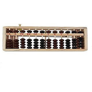 Sealike Handmade Chinese Wooden Abacus Soroban Office Calculation With 12 Rods For Students With Stylus