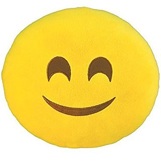 Kids Preferred Emoji Small Pillow: Smiley Plush