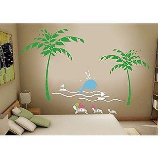 Pop Decors PT-0086VC Beautiful Wall Decals, Happy Ocean Paradise