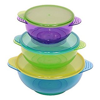 NEW!! Hugabugg Hugabowls. Best baby bowls with 3 bright colorful bowls and 3 lids perfect for babies and toddlers. BPA free. Snap tight lids are great for easy storage and on the go mess free feeding.