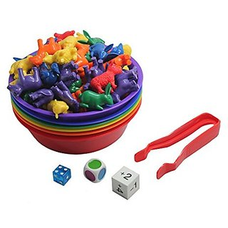 Preschool And Toddler Color And Shape Sorting Set With Sorting Bowls And 3 D Geometric Shapes Early Learning Education Toy