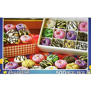 Colorful Mini Donuts Puzzlebug 500 Pieces Jigsaw Puzzle