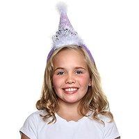 Girls Princess Tiara Cone Hat Headband, Lavender
