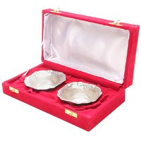 2 Silver Bowl Set With Velvet Gift Box - By JEWEL FUEL