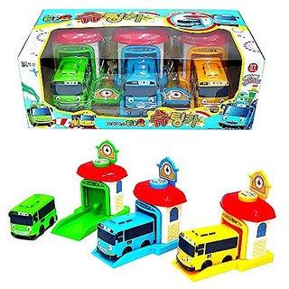 Tayo The Little Bus Shooting Cars Tayo Rogi Rani 3 Pcs Set