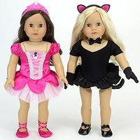 18 Inch Doll Dance Set With Jazz Leotard, Cat Costume A