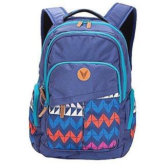 Bondka Backpack Navy Chevron