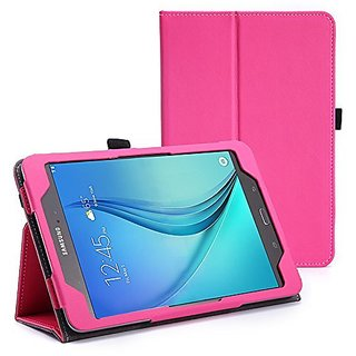 WOFALA Samsung Galaxy Tab A 8.0 Case - Ultra Slim Lightweight Smart Cover Stand Case With Auto Sleep/Wake Feature For Samsung Galaxy Tab A Tablet (8.0 inch Display, 2015 Version)-Pink