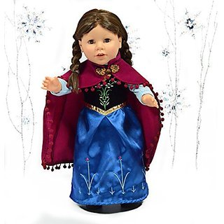 Anna Princess Royal Dress With Cape For 18 Inch Dolls American Girl Doll Clothes