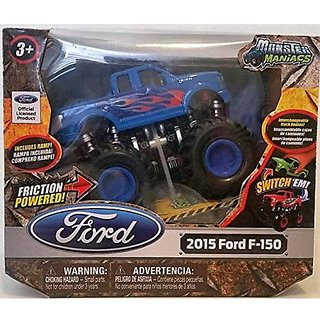 Monster Maniacs 2015 Ford F-150 Friction Powered, Blue color
