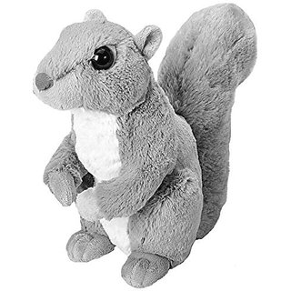 Wild Republic Cuddlekins Grey Squirrel Plush
