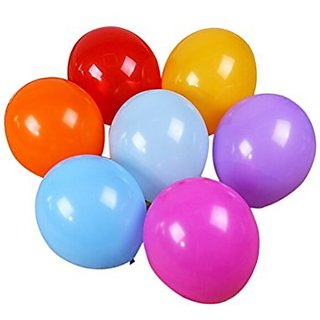Round Latex Balloons Bulk Party Supplies, Pack Of 100, Assorted Colors