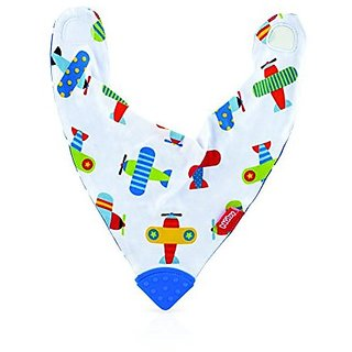 Nuby Bandana Bib with Teether Pattern May Very