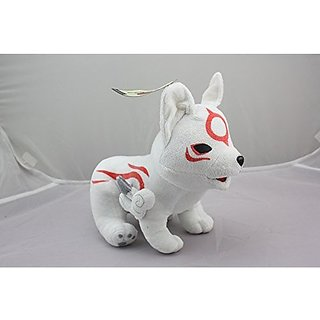 Pokemon Okami Chibiterasu plush Doll Stuffed Toy Xmas Gift